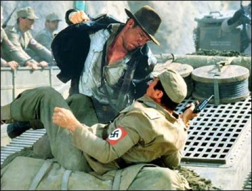 Indiana Jones fighting Nazis